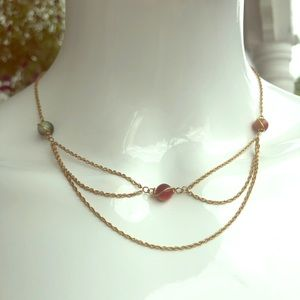 Jewelry - Vintage Gold Tone Delicate Chain Necklace